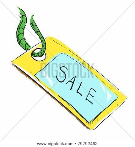 Sale luggage tag icon