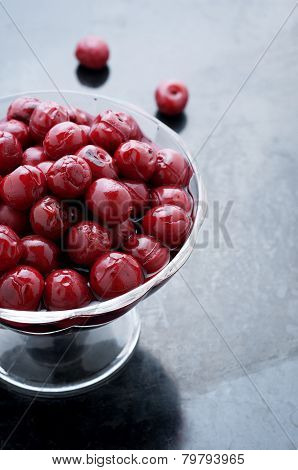 Cherries In A Glass Vase