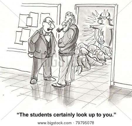 Students Admire Teacher