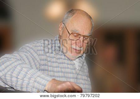 Expressive Senior Face
