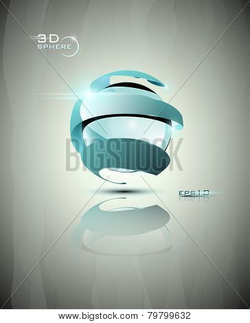 3D sphere icon