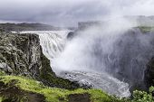 image of enormous  - Dettifoss a waterfall with enormous volume in north Iceland