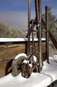 foto of gold mine  - Gold Mining machinery breaks down in the desert - JPG