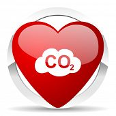 stock photo of carbon-dioxide  - carbon dioxide valentine icon co2 sign  - JPG