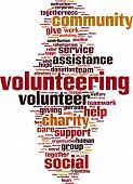 image of word charity  - Volunteering word cloud concept - JPG