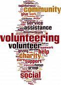 image of word charity  - Volunteering word cloud concept - JPG