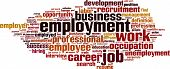 pic of self-employment  - Employment word cloud concept - JPG