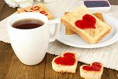 foto of bangla  - good morning with coffe cup and cake - JPG
