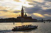 Постер, плакат: San Giorgio Maggiore In Venice At Sunset