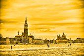 Постер, плакат: View Of San Giorgio Maggiore In Yellow