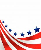 picture of usa flag  - USA flag in style vector on white background - JPG