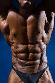 picture of six pack  - Close up on perfect abs - JPG