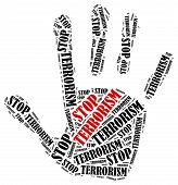 stock photo of terrorism  - Stop terrorism - JPG