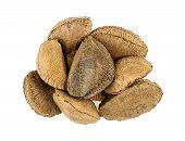 foto of brazil nut  - Heap of brazil nuts isolated on white - JPG