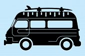 picture of food truck  - simple graphic of a food truck - JPG