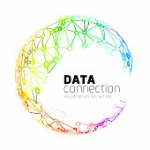 stock photo of abstract painting  - Abstract network connection - JPG