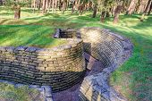 stock photo of battlefield  - the trenches of the battlefield at Vimy France - JPG