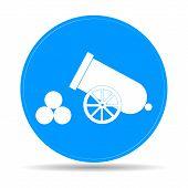 foto of cannon-ball  - retro cannon Flat vector illustrator Eps 10 - JPG