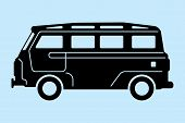 stock photo of food truck  - simple graphic of a food truck - JPG