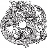 picture of dragon  - chinese dragon holding pearl - JPG