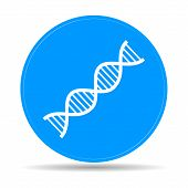 foto of double helix  - Vector DNA icon - JPG