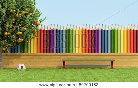 Colorful Garden For Children