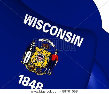 Flag Of Wisconsin, Usa.
