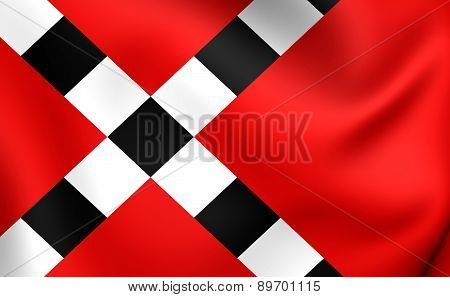 Flag Of Veghel, Netherlands.