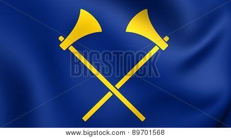 Flag Of Saint Helier, Jersey.
