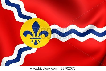 Flag Of St. Louis, Usa.