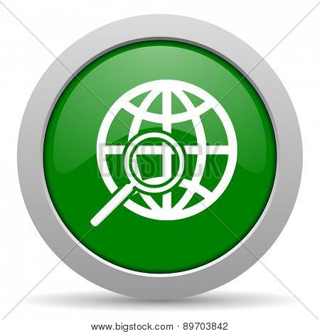 search green glossy web icon