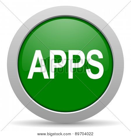 apps green glossy web icon