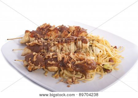 Plate With Satay