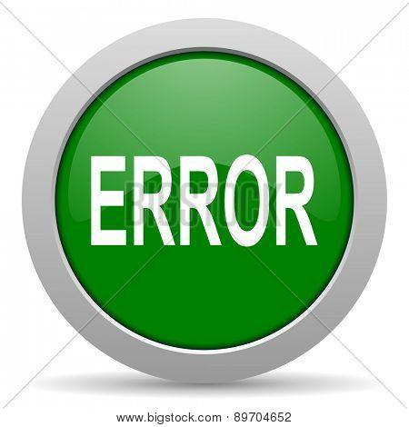 error green glossy web icon