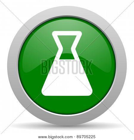 laboratory green glossy web icon