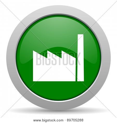 factory green glossy web icon