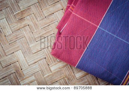 Thai Style Handcrafted Textile Made By Silk From Northeast, Thailand