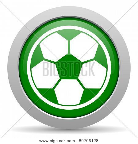 soccer green glossy web icon