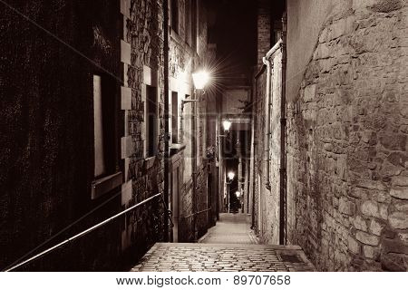 Edinburgh city street view in United Kingdom.