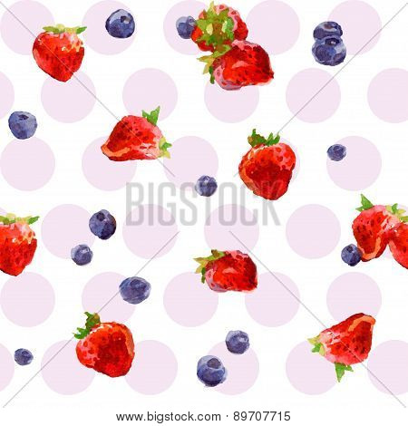Watercolor berries