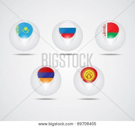 Eurasian Economic Union Flags