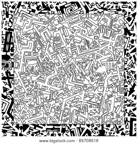Hand Drawn  Black And White Pattern
