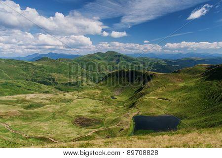 Mountains landscape. Carpathian Mountains. summer