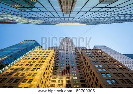 Looking Up In Manhattan, New York