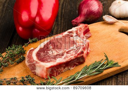 Meat, Vegetables And Spices