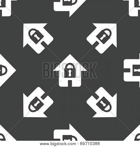 House with lock pattern
