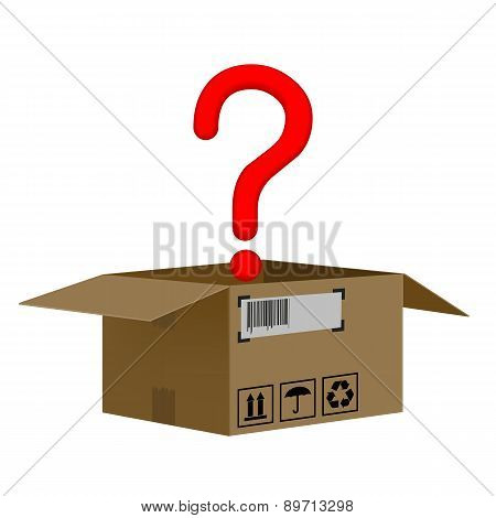 Box With A Question Mark