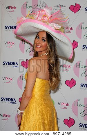 LOS ANGELES - MAY 2:  Courtney Sixx at the Annual Derby Ladies Luncheon at the Private Location on May 2, 2015 in Westlake Village, CA
