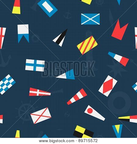 Pattern Of The Nautical Flags