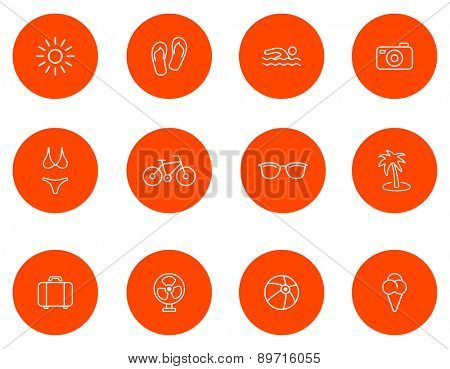 Summer icons.Set 1.Vector